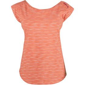 ABK Völgy Camiseta Mujer, naranja/blanco